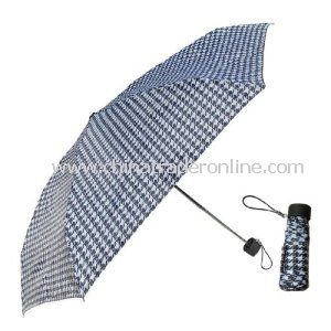 Manual Personal Compact Aluminum Pocket 3 Folding Umbrella