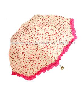 Wholesale Creative Sun Protection Woman 3 Folding Umbrella