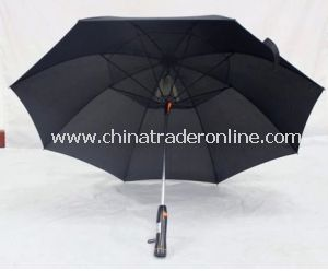 2014 Style Pongee Waterproof Sunshade Straight Fan Umbrella from China