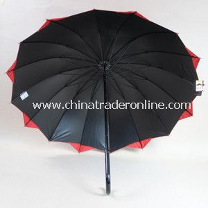 23*16k, Two Color Joined Fabric Straight Umbrella from China