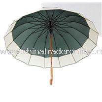 23inch 24panles Big Wooden Shaft Straight Umbrella