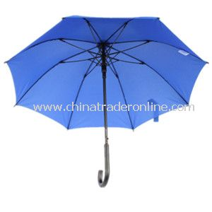 23inch Black Wooden Shaft Fiberglass Ribs Straight Umbrella