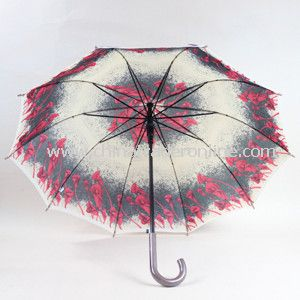 23inch Heat Transfer Print Straight Umbrella