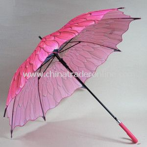 23inch New Design Heat Transfer Print Pongee Straight Umbrella