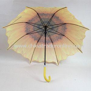 23inch Transfer Print Straight Umbrella with Auto Open