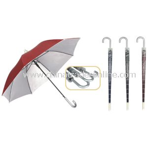 Anti Dripping Cover UV Protection Red Straight Umbrella