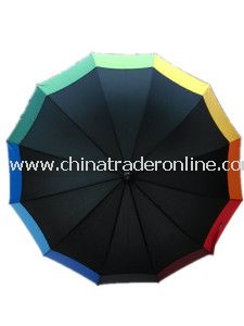 Colorful Printing Straight Umbrella
