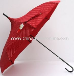 Fashion Creative Pongee Pagoda Rain Straight Umbrella