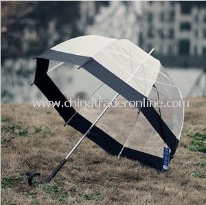 Fashion Promotional Lady Transparent Gift Straight Umbrella