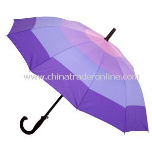 Outside Colourful Straight Umbrella