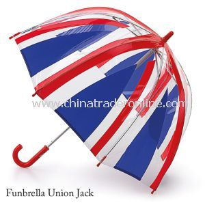Straight Plastic PVC Dome Umbrella with UK Flag