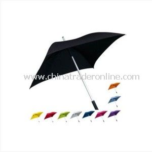 Stylish Aluminum 4 Panels Windproof Square Straight Umbrella