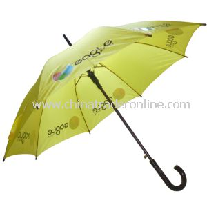 Automatic Open Logo Printed Yellow Color Advertising Umbrella