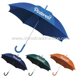 Automatic Open Metal Shaft Blue Color Advertising Umbrella