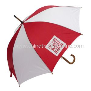 Automatic Wooden Shaft Silk Screen Printing Advertising Umbrella