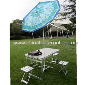 Manual Outdoor Leisure Blue Beach Garden Umbrella