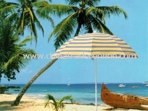 Wholesale Pongee Seaside Patio Promotional Beach Umbrella