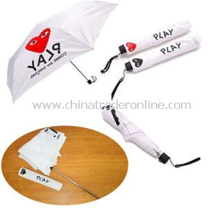 Fashion White Aluminium 3 Fold Advertising Mini Umbrella
