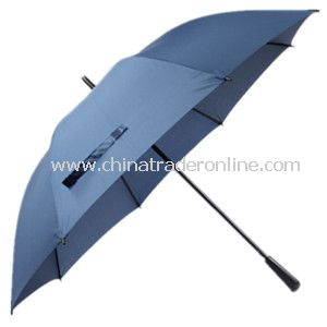 27inch Solid Pongee Fabric Double Rib Golf Umbrella from China