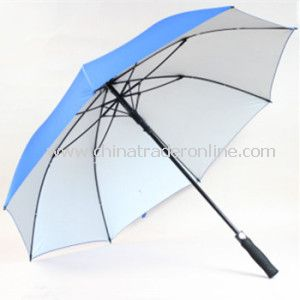 28inch, Sliver Coated Pongee Fabric Golf Umbrella