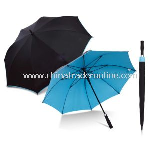 Automatic Black and Blue Double Layers Golf Umbrella
