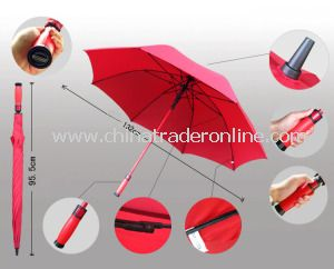 Automatic Red Windproof Pongee Outdoor Golf Umbrella