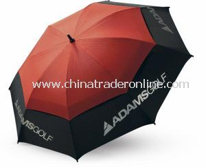 Black and Red Windproof Double Advertising Golf Umbrella