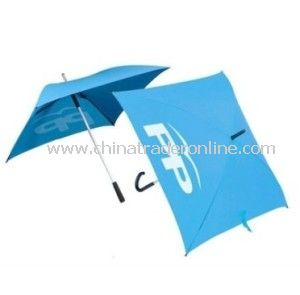 Blue Square Shaped Golf Umbrella