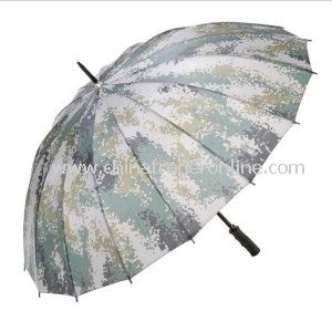 Hot Sale Creative Windproof Army Straight Golf Umbrella