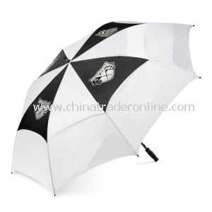 Manual Windproof Polyester Double Layer Advertising Golf Umbrella