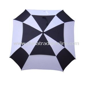 Sqaure Double Layer Wind-Proof Golf Umbrella from China