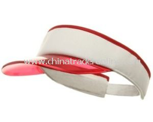 Transparent PVC Sun Visor for Female