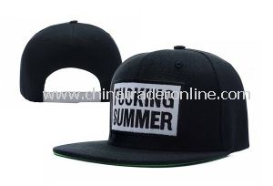 Custom Black Embroidery Flat Brim Fitted Hats