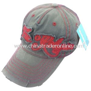 Washed Cap with Contrasting Stitching from China